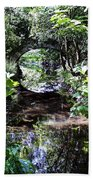 Bridge Reflection At Blarney Caste Ireland Beach Towel