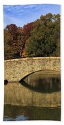 Bridge Reflection Beach Towel