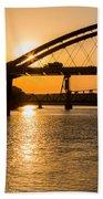 Bridge Sunrise 1 Beach Towel
