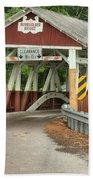 Bridge Through The Somerset Forest Beach Towel