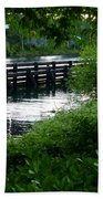 Bridge Through The Trees Beach Towel
