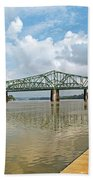 bridge to Belpre, Ohio Beach Towel