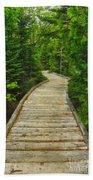 Bridge To Chimney Pond Beach Towel
