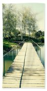 Bridge To Evening Island Beach Towel
