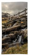 Bridge To Moutains Beach Towel