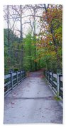 Bridge To Paradise - Wissahickon Valley Beach Towel