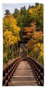 Bridge To Rainbow Falls Beach Towel