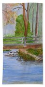 Bridge To Serenity   Smithgall Woods State Park Beach Towel