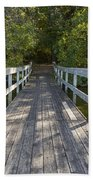 Bridge To Woods 1 Beach Towel