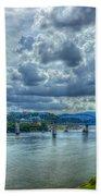 Bridges Of Chattanooga Tennessee Beach Towel