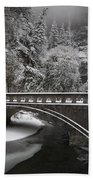 Bridges Of Multnomah Falls Beach Towel