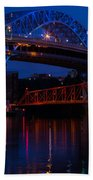 Bridges Red White And Blue Beach Towel
