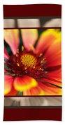 Bright Blanket Flower With Design Beach Towel