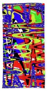 Bright Color Mix Abstract Beach Towel