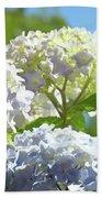 Bright Floral Art Pastel Blue Purple Hydrangeas Flowers Baslee Troutman Beach Towel