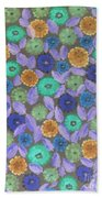 Bright Flowers Beach Towel