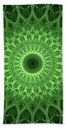 Bright Green Mandala Beach Towel