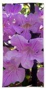 Bright-lillac Flowers 6-22-a Beach Towel