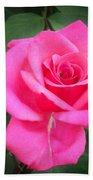 Bright-pink Rose 049 Beach Towel