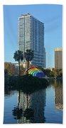 Bright Spot In Downtown Orlando Beach Towel