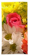 Bright Spring Flowers Beach Towel