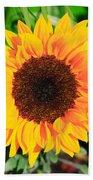 Bright Sunflower Beach Towel