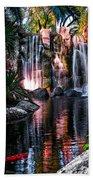 Bright Waterfalls Beach Towel
