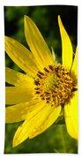 Bright Yellow Flower Beach Towel