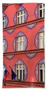 Brightly Colored Facade Vurnik House Or Cooperative Business Ban Beach Towel