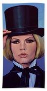Brigitte Bardot Painting 2 Beach Sheet