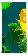 Brimstone Yellow Beach Towel