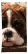 Brindle Boxer Pup Beach Towel