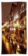 Brindleyplace At Night Beach Towel