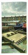 Bristol Barge Dry Dock  Beach Towel