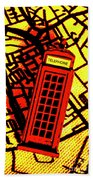 Brit Phone Box Beach Towel
