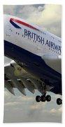 British Airways Airbus A380 Beach Towel