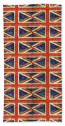 British Flag Collage One Beach Towel