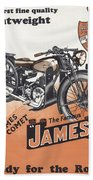 British James Comet Motorcycle  1948 Beach Towel