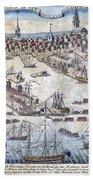 British Ships Of War, Landing Troops Beach Towel