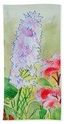 British Wild Flowers Beach Towel