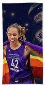 Brittney Griner Lgbt Pride 3 Beach Towel