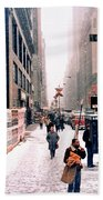 Broadway And 42nd Street 1985 Beach Towel