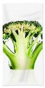 Broccoli Cutaway On White Beach Towel