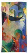 Broken Forms By Franz Marc Modern Bright Colored Painting  Beach Sheet