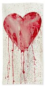 Broken Heart - Bleeding Heart Beach Towel