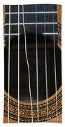 Broken String On A Classical Guitar Beach Towel