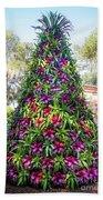 Bromeliad Christmas Tree At Pinewood Estate, Bok Tower Beach Towel