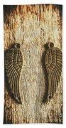 Bronze Angel Wings Beach Towel