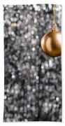 Bronze Christmas  Beach Towel