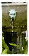 Bronze Civit Head Fountain Beach Towel